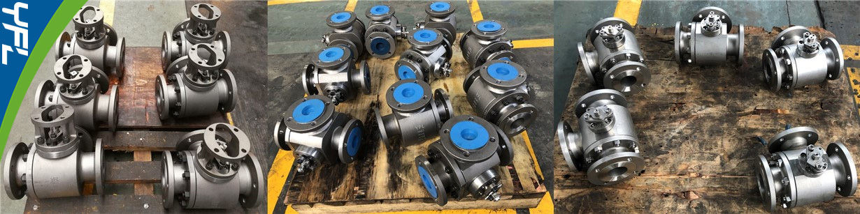 YFL T type three way ball valves, YFL L type three way ball valves