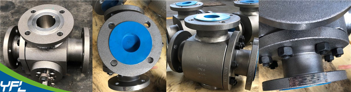 YFL T type three way ball valves