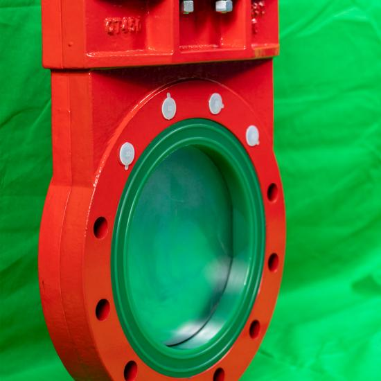 Polyurethane Lined Knife Gate Valves